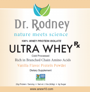 Dr. Rodney Ultra Whey Product label